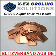 [KUPFER] 0,8MM GPU Shim/Wärmeleitpad →Laptop Reparatur Repair Thermal Pad Copper