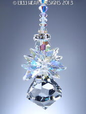 m/w Swarovski Crystal Aurora Borealis Bell Angel SunCatcher Lilli Heart Designs