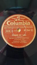 FRANCE 78 rpm RECORD Columbia CHARLES TRENET Tombe du ciel / Marie Marie