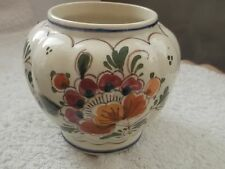 SMALL SHAPED DELFT POSY VASE WITH A FLORAL  PATTERN   A/ F
