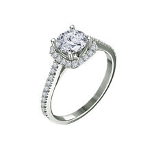 1.15 Ct Round-Cut Diamond Solitaire Engagement Ring 14K White Gold Over