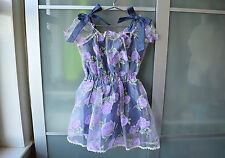AUTHENTIC Liz Lisa denim jumpsuit & sheer lilac dress ~ NEW ~ Japan ~ Lolita