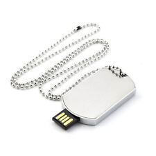 Collar Colgante Estilo Placa militar con memoria USB 8GB retráctil