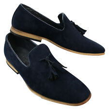 Mens Suede Loafers Driving Shoes Slip On Tassle Design Leather Lined Comfort