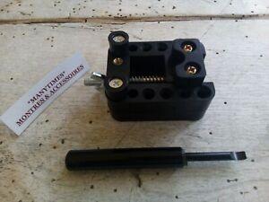 Lot 2 Outils :Etau Horloger pour fixer Boitier Montre +Outil d'ouverture montre