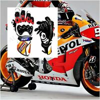 Honda Motorbike Gloves Leather Repsol Motorcycle Gloves Racing Suits Bike MotoGP