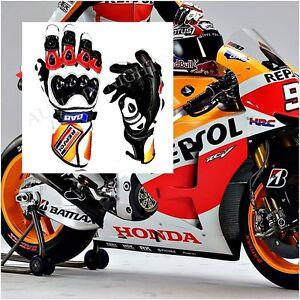 Honda Gants Moto Cuir Repsol Gants Moto Course Compatible avec moto MotoGP