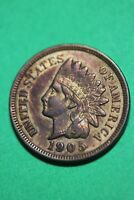 Naturally Toned Extra Fine Details 1905 Indian Head Cent Penny OCE 1234