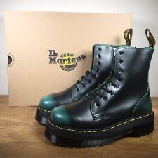 Dr Martens Jadon Vintage Green Leather Platform Double Sole Boots UK 9 EU 43