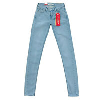 Levi's 710 Teen Girl's Women's Blue Super Skinny Stretchy Jeans Size W25 L32