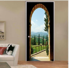 3D Arched Door Wall Sticker Wrap Mural Scene Self Adhesive Home Decor Decal