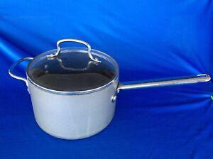 Calphalon Commercial Anodized Aluminum 4.5 Quart Sauce Pan/Pot 8704 1/2 With Lid