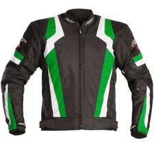 Blousons verts textiles coude pour motocyclette