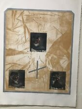 """David Freed  – Color Etching - """"Breathless I"""" 1979 – 87/100"""