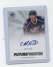 CAM ATKINSON 11-12 SP AUTHENTIC #252 FUTURE WATCH AUTO ROOKIE /999 RC COLUMBUS