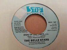 "THE BELLE STARS * SIGN OF THE TIMES * 7"" SINGLE VERY GOOD 1982 STIFF BUY 167"