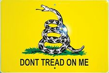 """Dont Don't Tread On Me 8"""" x12"""" Gadsden Tea Party Aluminum Sign NEW MADE USA"""