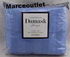 Charter Club Damask Stripe 550 Thread Count King Sheet Set Cornflower Blue