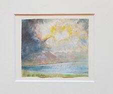 Aquarell Josef Wopfner zugescheschrieben Chiemsee 1843 - 1927 8 x 9 cm.