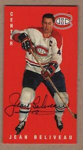 1994 Authentic Jean Beliveau Autograph Parkhurst card #85 Super Condition 9.99$