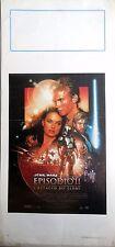 locandina playbill STAR WARS EPISODIO II L ATTACCO DEI CLONI CINEMA SCI-FI