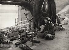 1928 Vintage Print INDIA Benares SADHU Sleeping Meditation Photo Art ~ HURLIMANN