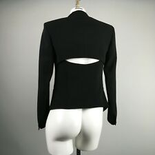 Rag & Bone Black Teresa Peekaboo Open Back Blazer Size 00 Triacetate Blend