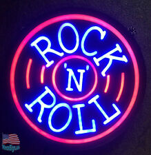 "Rock N Roll Beer Pub Bar Store Restaurant Neon Sign 17""x14"" From Usa"