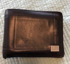 Oroton mens black wallet. used.