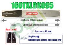 BARRA LAMA OREGON SPEEDCUT 160TXLBK095 40cm PASSO 325'' SPESSORE 1.3mm MAGLIE 66