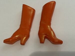 "PAIR OF BOOTS 2pcs for MEGO 12"" WONDER WOMAN doll -1976 -Original Doll Accessory"