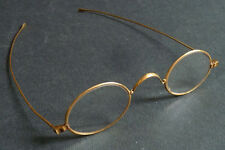 Besicles lunettes en OR massif vers 1900 face-à-main gold glasses spectacles