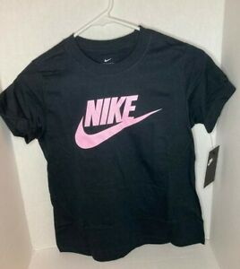 NIKE Girls Size M 10-12 Graphic T-Shirts Girls Assorted Styles Athlete NEW Black