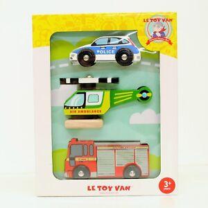 Le Toy Van Emergency Vehicle Set