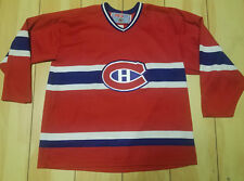 MONTREAL CANADIENS  CCM Red Classic HOCKEY JERSEY XL #32 claude lemieux vintage