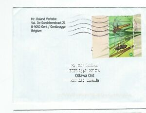 AF1 stamp cover Gentbrugge Belgium to Ottawa Canada topical insect bugs