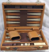 Travel Backgammon Set in Faux Leather Attache Case
