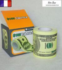 Papier Toilette 100 Dollars pour Farce, Cadeau original, Surprise ou Blague