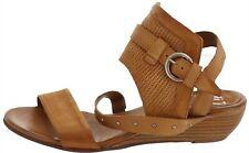 Miz Mooz Leather Buckle Sandals Farley Wheat EU37(US6.5-7)M # A350232