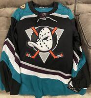 BRAND NEW Adidas NHL Jersey Anaheim Ducks Silver Season 25th Anniversary Size 56