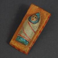 Grulicher Krippenfigur, Krippe mit Baby Jesus - Holz geschnitzt   (# 11411)