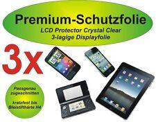 3x Premium-Schutzfolie LG Optimus Hub - E510 - 3-lagig  kristallklar  blasenfrei