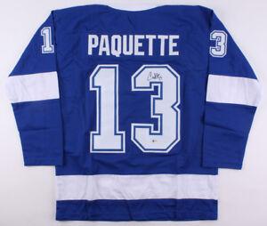 Cedric Paquette Signed Lightning Jersey (Beckett COA) Tampa Bay Center