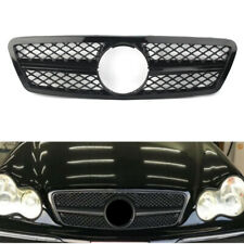 Gloss Black W203 AMG GRILLE GRILL For Mercedes Benz C class W203 2001-2006