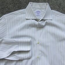 BROOKS BROTHERS MEN DRESS SHIRT 14 1/2 BUTTON FRONT COLLARED STRIPED COTTON