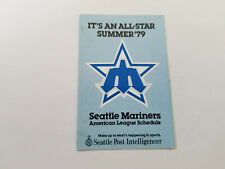 Seattle Mariners 1979 MLB Baseball Pocket Schedule - Seattle Post-Intelligencer