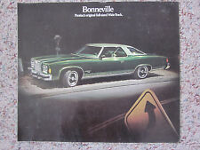 1974 Pontiac Bonneville Sales Brochure Color Folder Facts, Figures, Features