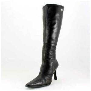 Buffalo Stiefel Gr. 40 High Heels Lederstiefel mit Budapester Nähten (#2264)