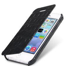 Melkco Premium Leather Case for Apple iPhone 5c-Face Cover Crocodile Print Black