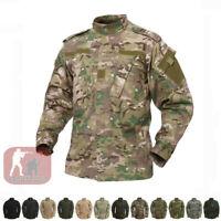 Mens Tactical Combat Uniform Shirts US Army Military Jackets Coat Camouflage